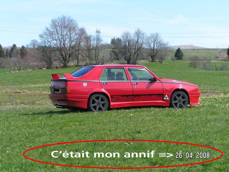 La FifouMobile !  (Alfa 75 turbo Evoluzione) Annivwalt